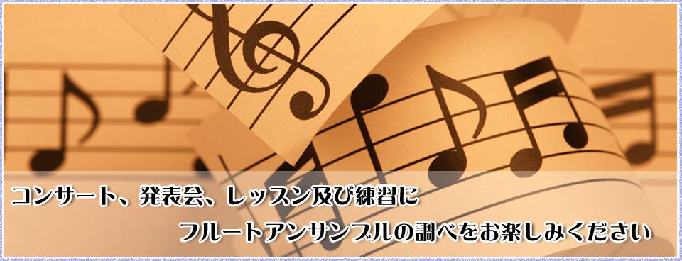 コンサート、発表会、レッスン及び練習にフルートアンサンブルの調べをお楽しみください